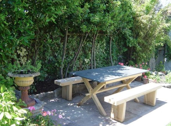 This Beautiful Axminster Garden Table Was Hand Crafted For A Customer In Somerset The Benches Were Also Bespoke Made To Suit The Table By Our Skilled Craftsmen www.slatetoptables.com
