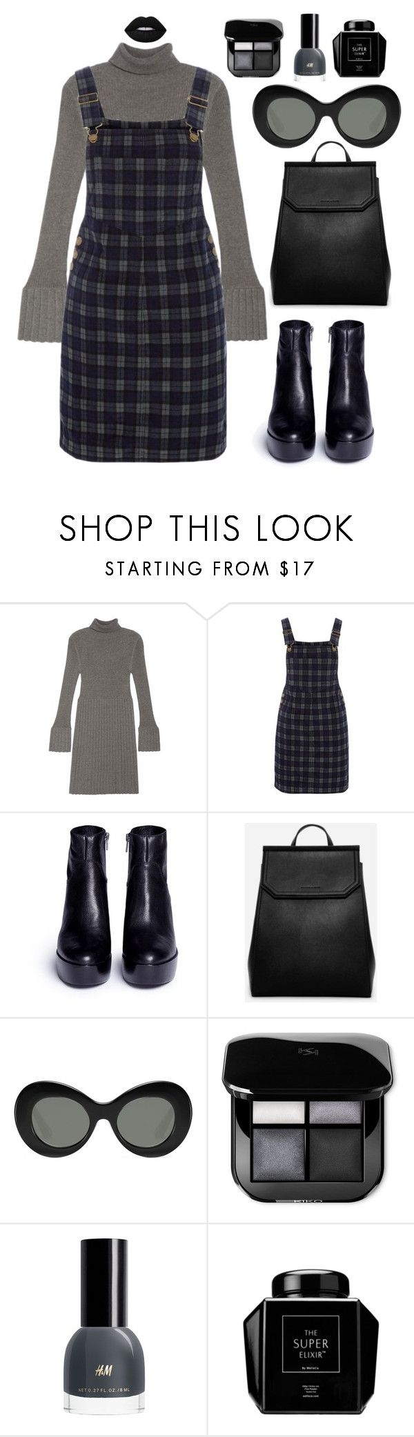 """""""hitam"""" by bilbil ❤ liked on Polyvore featuring Adrianna Papell, Red Herring, Ash, CHARLES & KEITH and Elizabeth and James"""