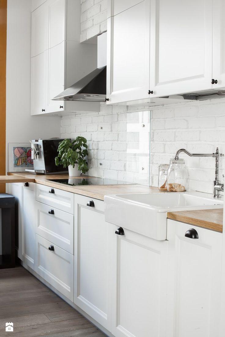 Prostota i Piękno - Średnia otwarta kuchnia jednorzędowa w aneksie, styl eklektyczny - zdjęcie od EG projekt