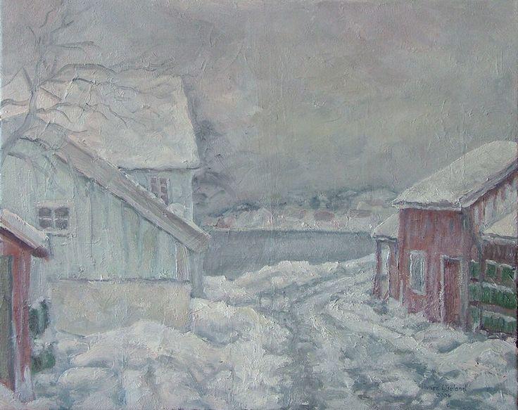 Vinterdag, Brekkestø. www.oseland.info