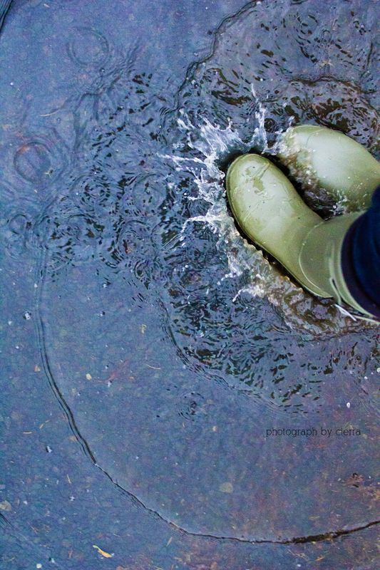 Jumping in puddles- the most important reason to wear rainboots