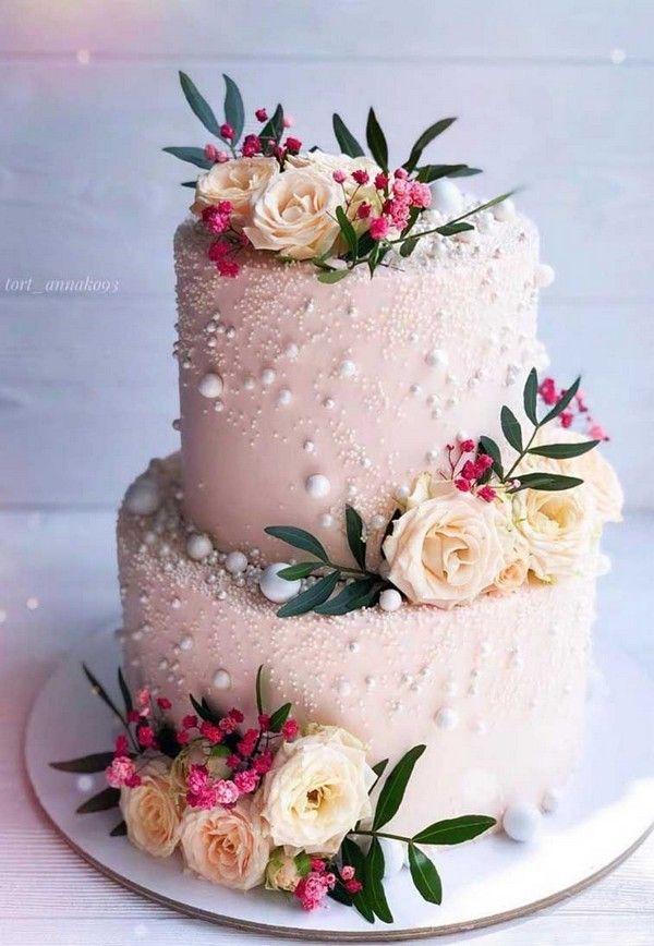 Top 20 einfache rosa Hochzeitstorten für Frühlings- und Sommerhochzeiten   – Wedding Cakes
