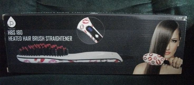 PURSONIC HEATED HAIR BRUSH STRAIGHTENER- MODEL HBS 180- LIPSTICK DESIGN- NEW