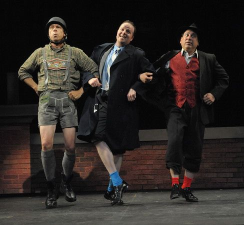 Stephen F. Schmidt (Franz Liebkind), Michael Di Liberto (Leo Bloom) and Michael Kostroff (Max Bialystock). Photo by Stan Barouh.