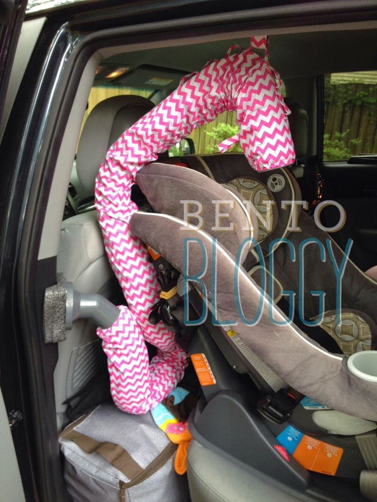 Bentobloggy: DIY Your Noggle for Curved Air Vents - to keep the kids cool in the backseat.
