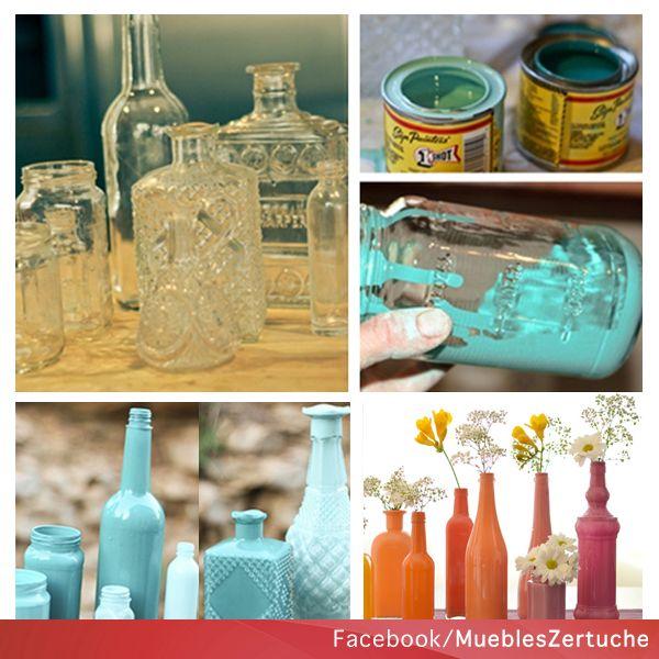 Decora tu hogar con estos hermosos floreros, reciclando con botellas de vidrio que ya no usemos y nos pueden servir para otras cosas.   #DIY #Decoracion