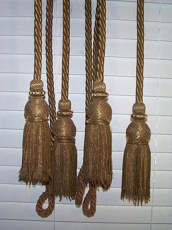 17 Best Images About Metalic Gold Curtain Tassels On