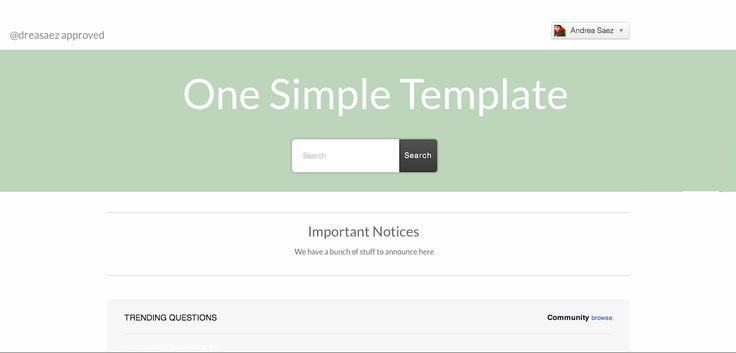 Simple Help Center design