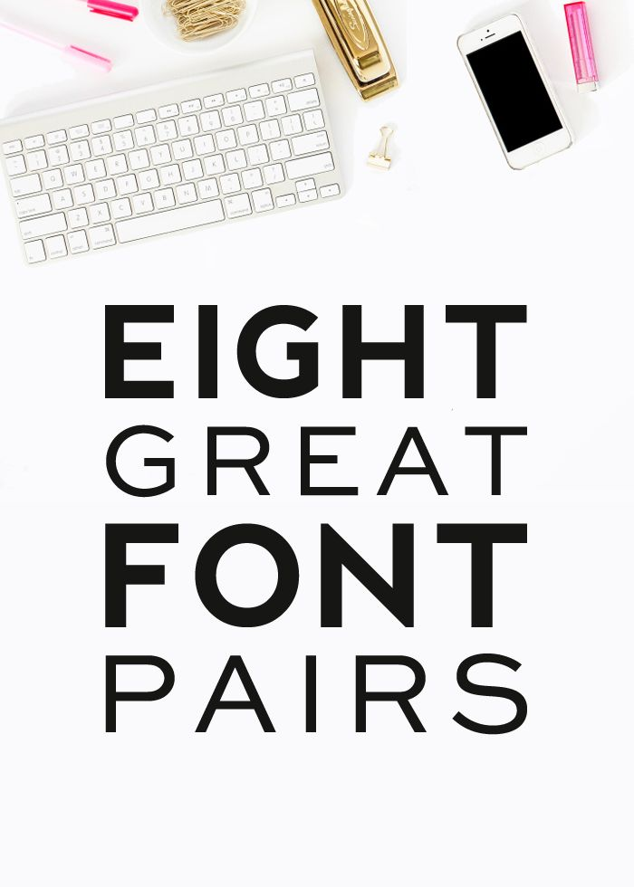 Eight Great Font Pairs | DesignerBlogs.com