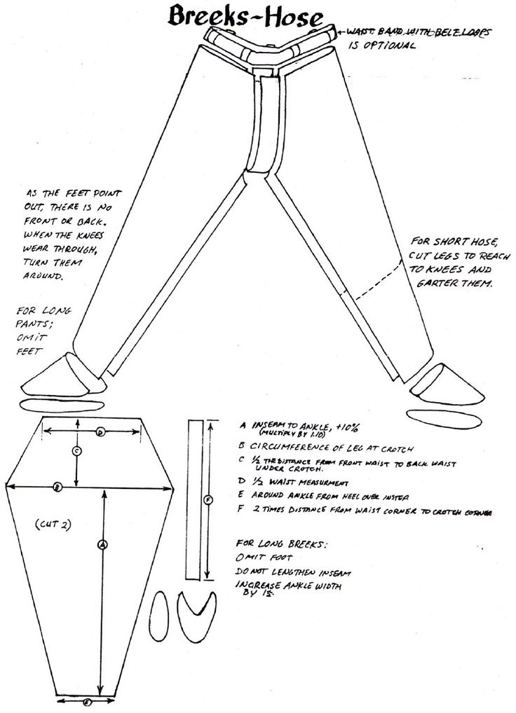 Viking Outfit PDF - Pictured: Breeks-Hose