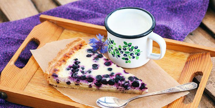 Torta de arándanos para diabéticos