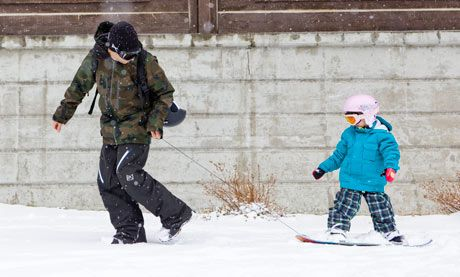Snowboarding for young children: should you get your kids on board?   Travel   The Guardian
