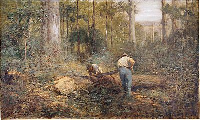 journey-and-destination: Australian Impressionists - Frederick McCubbin
