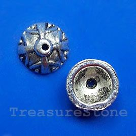 #Bead #cap, antiqued silver-finished, 9x5mm. #TreasureStone Beads Edmonton.