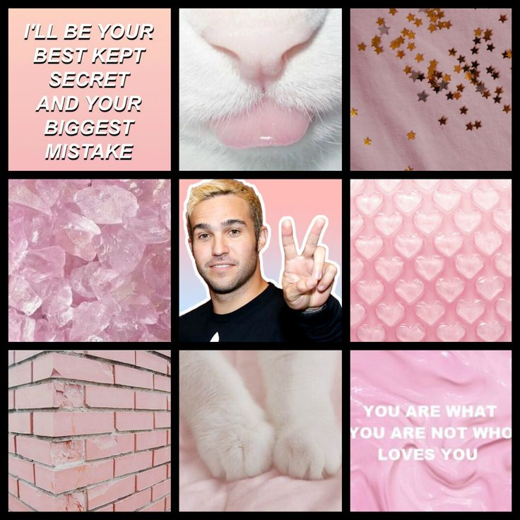 Requested! Pete Wentz pastel pink moodboard (my edit)