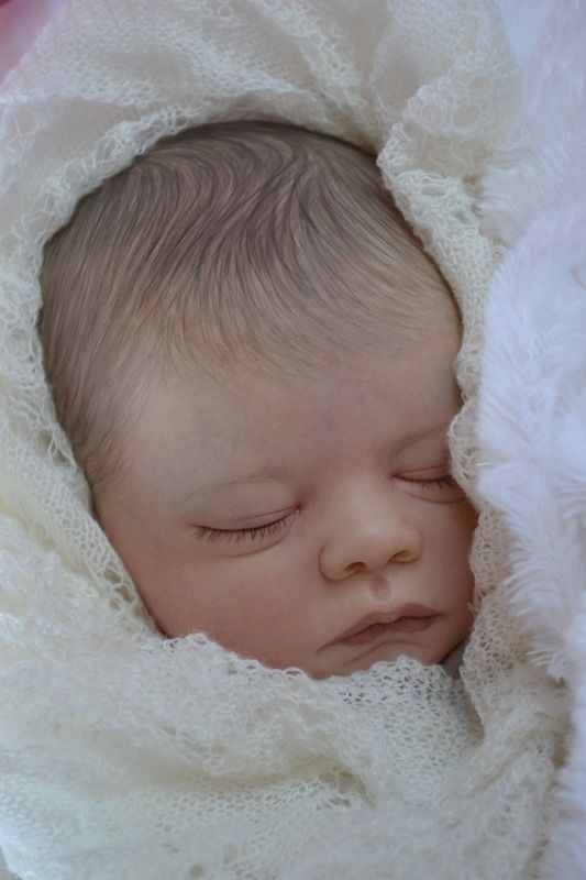 Gorgeous baby brought to life by BABY BANTER  member Catherine Turner at Kate's Cradles