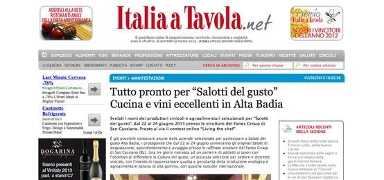 I Salotti del Gusto su Italia a Tavola http://www.italiaatavola.net/articolo.aspx?id=29001