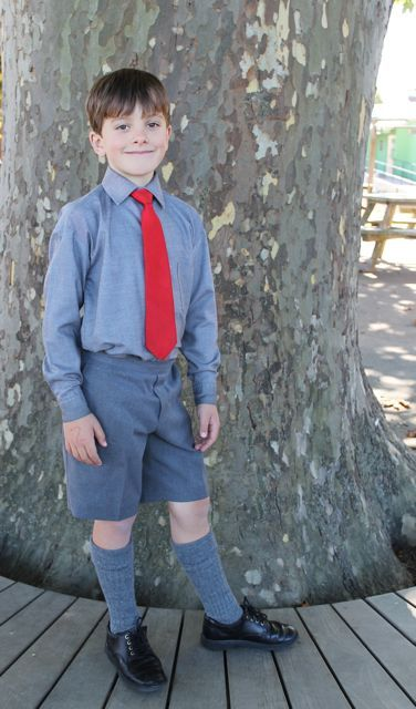 Our wide selection of school uniforms for boys is sure to have him looking his best on the first day of school and throughout the whole school year! Find button down shirts, boys' polos, blazers and basics like undershirts, socks and underwear.