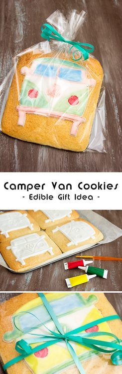 Those camper van cookies are very easy to make, no sugar craft skills needed and they make such a great and versatile edible gift idea for any occasion from birthdays through Father's Day to Christmas. For more car themed recipes, take a look at Food Bloggers for Volkswagen board: https://uk.pinterest.com/volkswagen/food-bloggers-for-volkswagen/