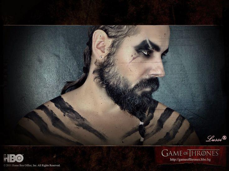 Хелоуин грим за мъже: Хал Дрого и Рагнар Лодброк / Halloween make up ideas for man: Khal Drogo and Ragnar Lodbrok
