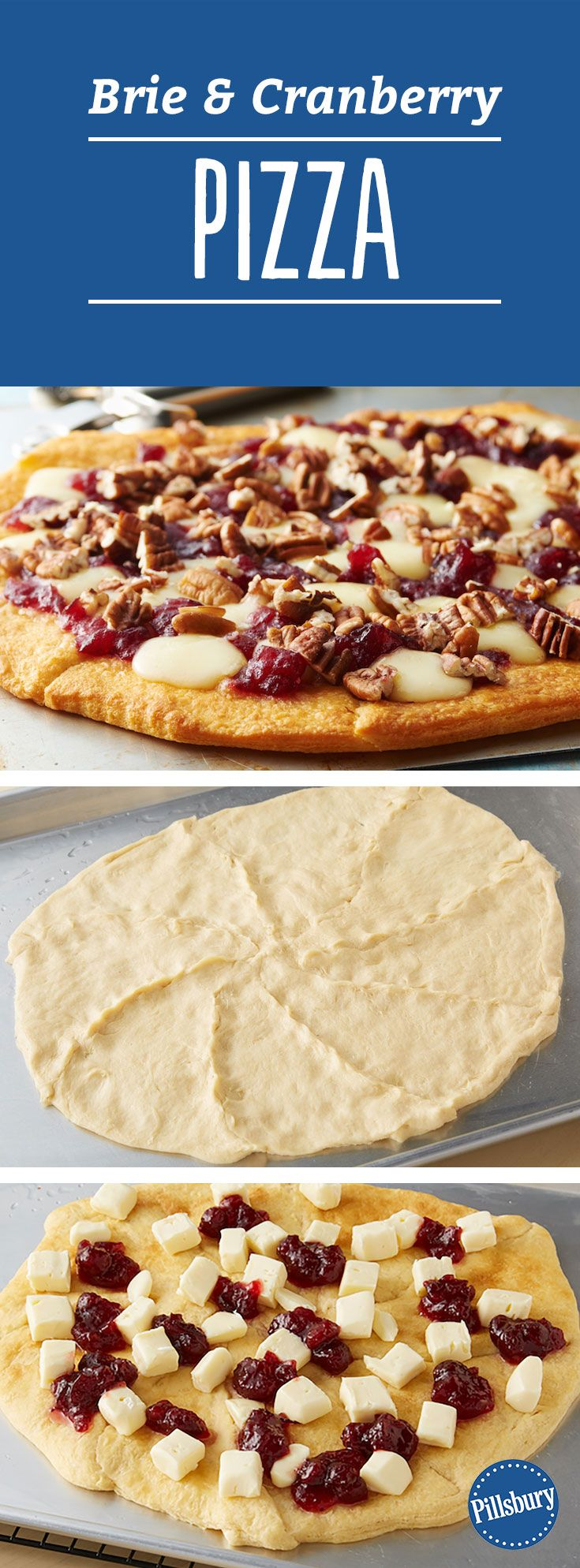 Brie And Cranberry Pizza Recipe — Dishmaps