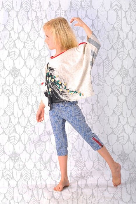 Paper Wings Summer 14Product Paper Wings Girls Feathers 3/4 JeansProduct code S14N530