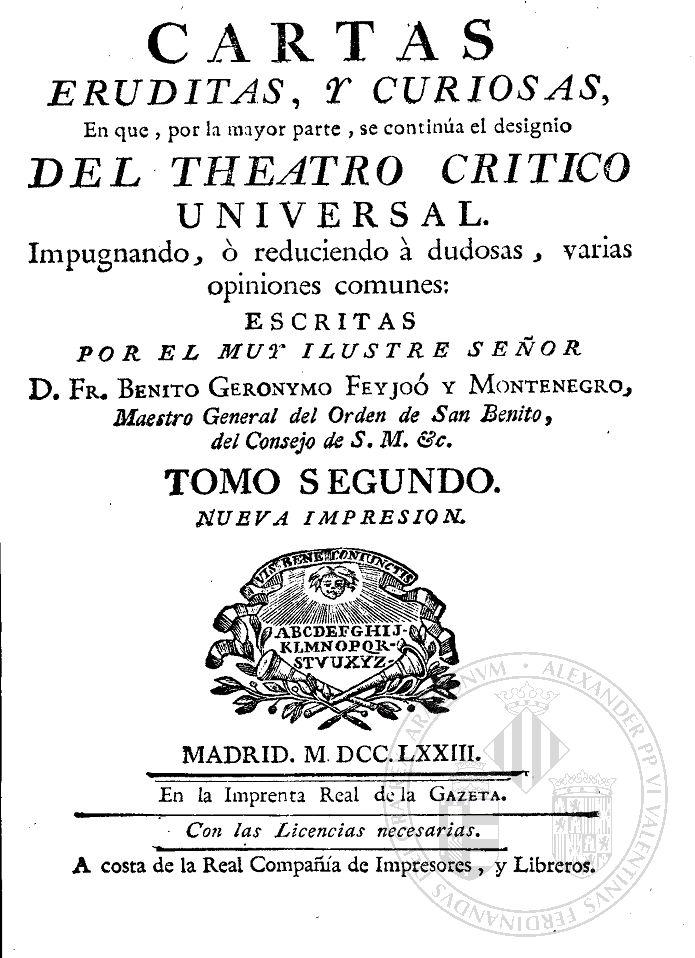 Descarga tu libro ePub: Cartas eruditas, y curiosas II - Benito Jeronimo Feijoo http://www.any.gs/AK6qB