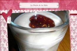 Verrines chantilly de foie gras et confiture de figues