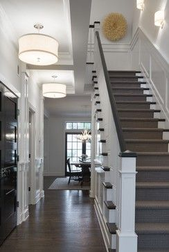 Modern Colonial Four-Square - transitional - Staircase - Minneapolis - Charlie & Co. Design, Ltd