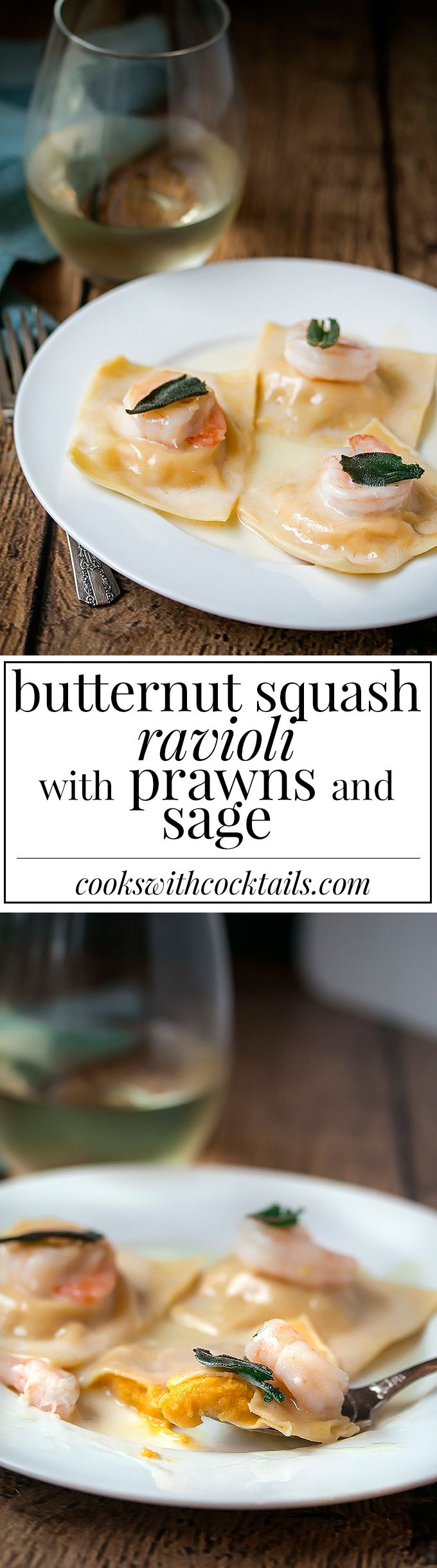 Delicious tender homemade butternut squash ravioli with a truffle oil butter sauce to die for.