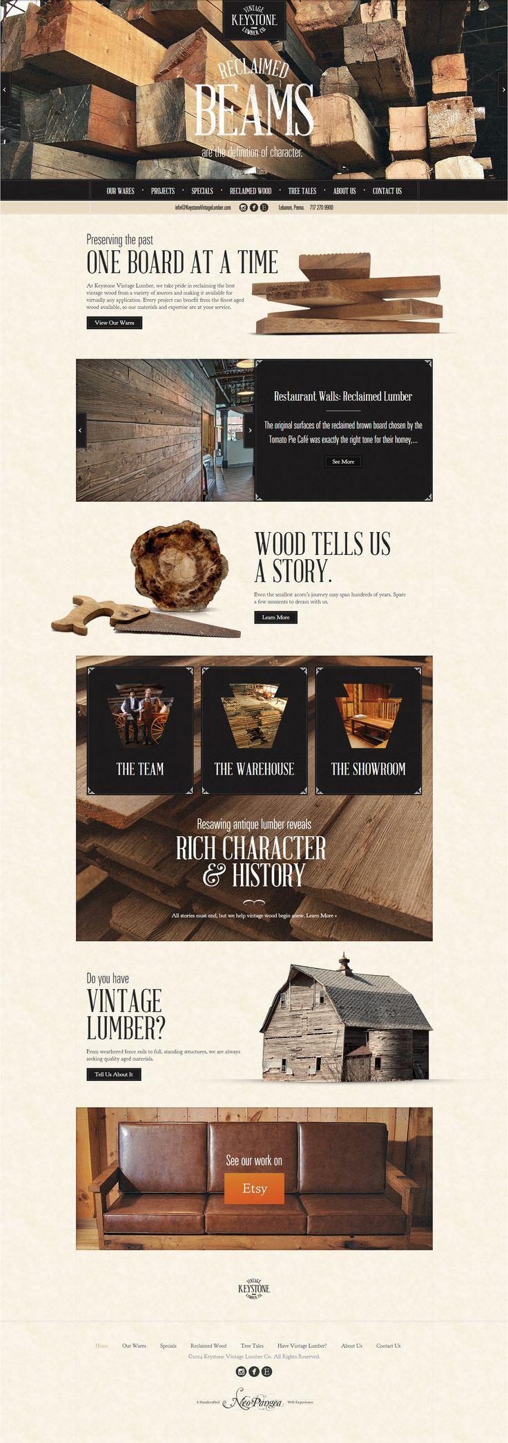 Unique Web Design, Keystone Vintage Lumber by http://www.neo-pangea.com/ #Web #Design #Vintage