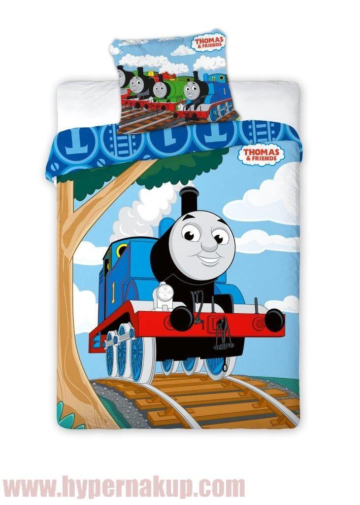 Detské obliečky  lokomotíva Tomáš 100 x 135 cm