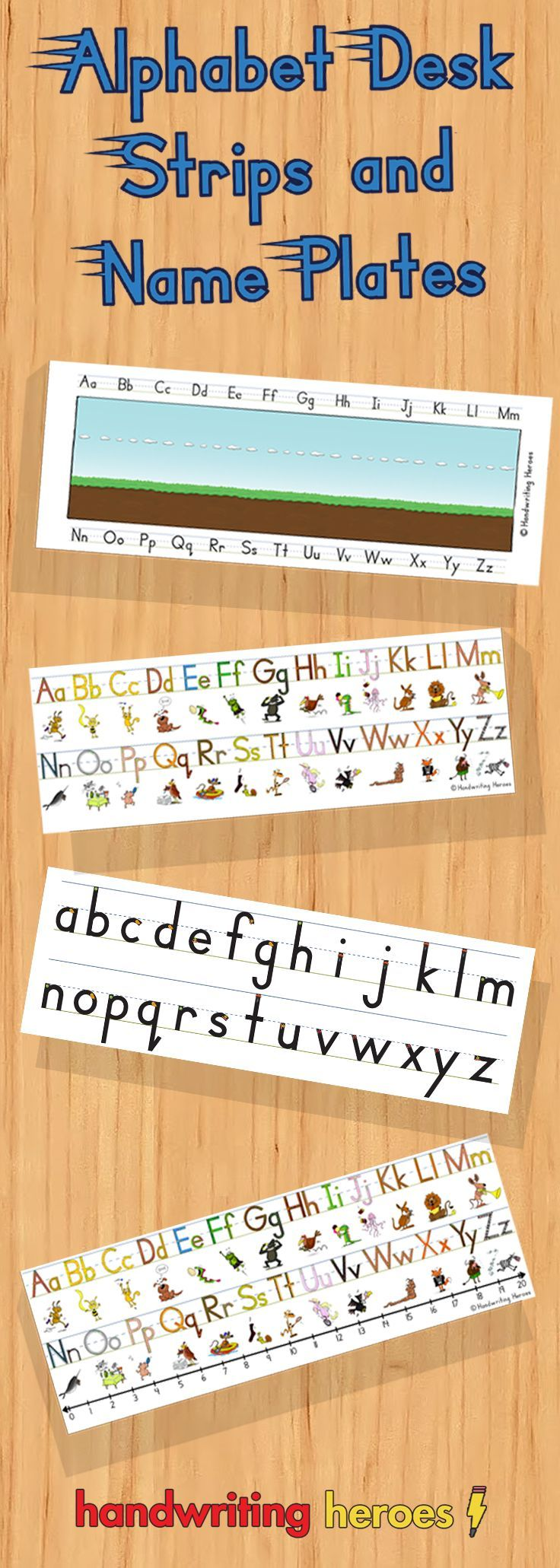 School Desk Strips And Name Plates Appytherapy Handwriting Analysis Learn Handwriting Handwriting Activities [ 2061 x 736 Pixel ]