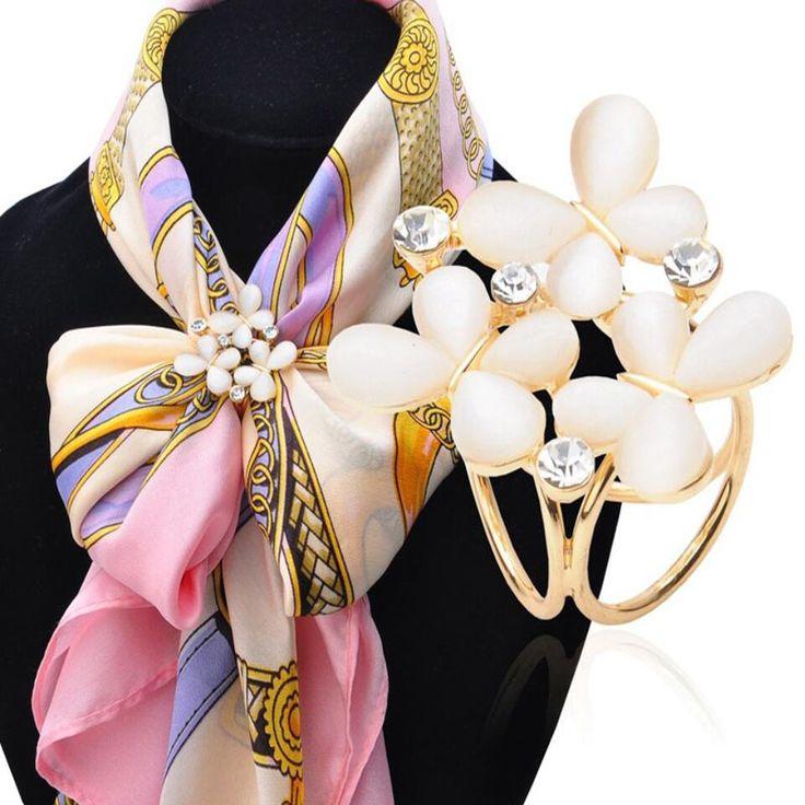 Koreaanse Mode Wilde Vlinder Tricyclische Sjaal Gesp Broche 2016 vrouwen Stewardess Strass Sjaal Gesp Sieraden