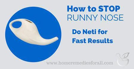 stop runny nose