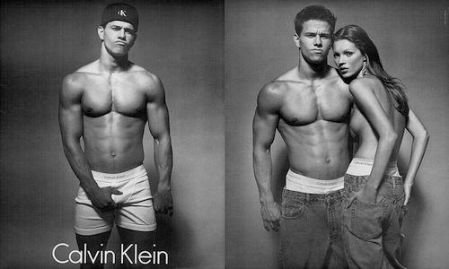 Mark Wahlberg and Kate Moss for Calvin Klein (somewhere in the 90s)