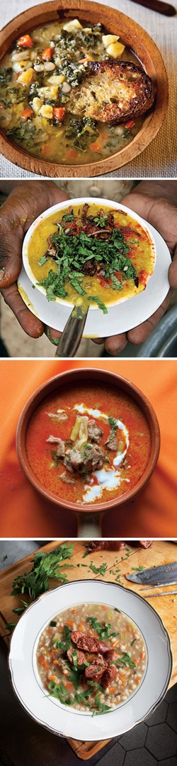 Few things are more comforting on a chilly evening than a hot bowl of soup or stew. See 35 of our favorite seasonal recipes.