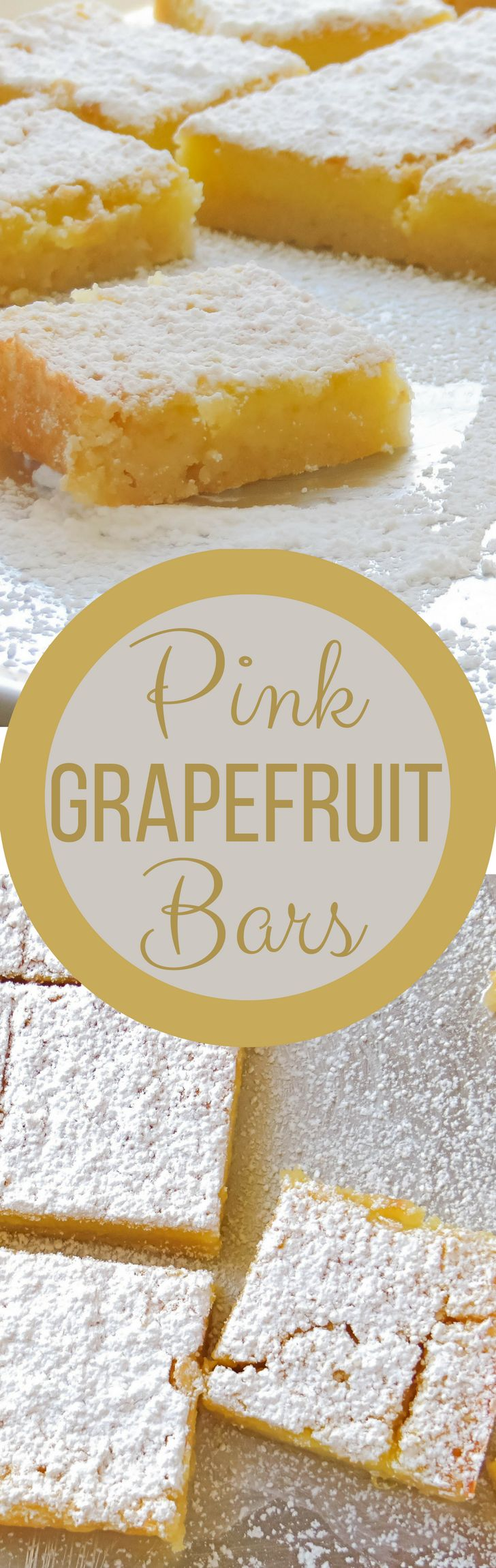 A twist on the classic lemon bar recipe, these are made with grapefruit! Pink Grapefruit Bars are easy to make and such a treat!