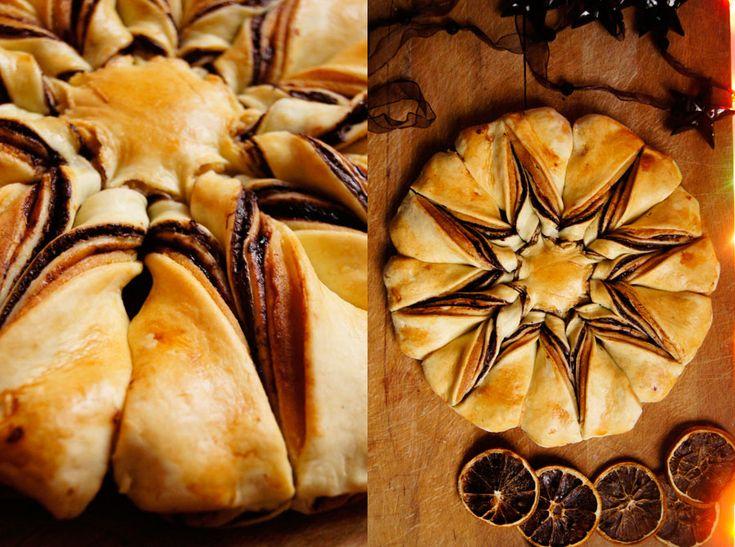 Wilk Syty: Gwiazdkowe ciasto drożdżowe o smaku śliwki w czekoladzie. [Pyszne Prezenty ♦ Boże Narodzenie 2015]