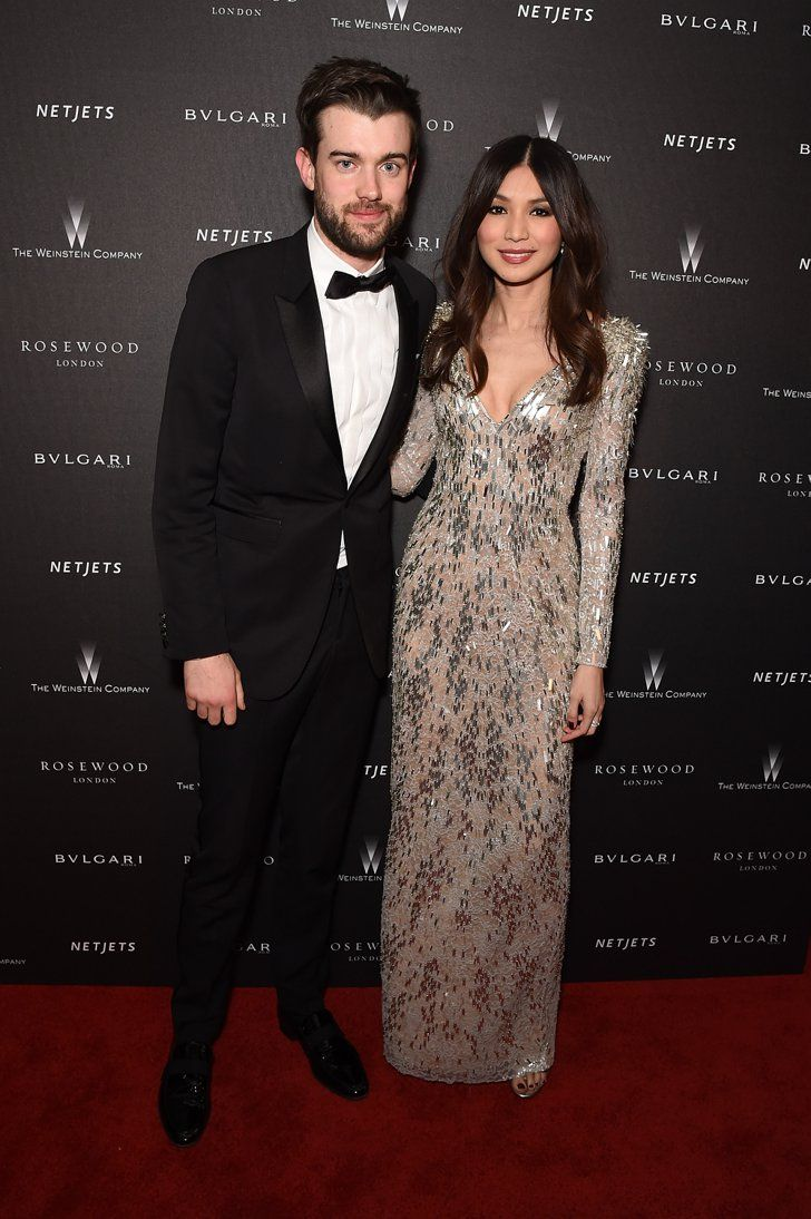 Pin for Later: The BAFTAs Doubled Up as a Valentine's Date For These Celeb Couples Jack Whitehall and Gemma Chan