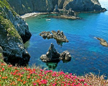 Channel Islands National Park is located off Ventura on the coast of California, not far from Santa Barbara, and includes five of the eight islands in the archipelago.