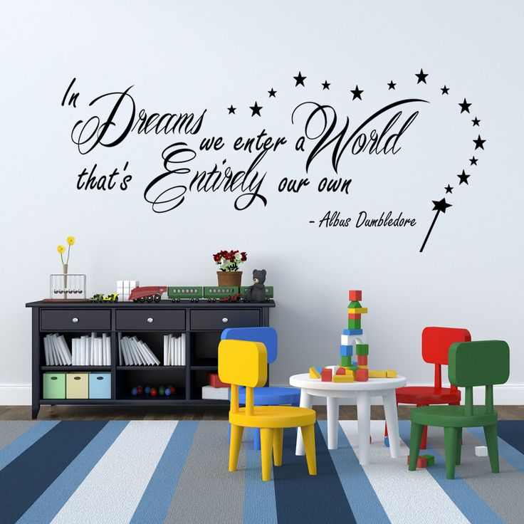 Harry Potter In Dreams we enter Dumbledore Wall Sticker Vinyl Quote for Bedroom: Amazon.co.uk: Kitchen & Home