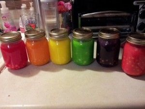 SKITTLESHOTS (ADULT ONLY Alcohol Beverage) Ingredients 6 Mason Jars 3 Large bags of Skittles 1 Large bottle of Vodka (any brand) Coffee filters Instructions Separate Skittles by color Fill each ma...