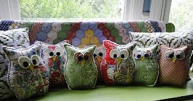 Owl Pillow Pattern #sewing
