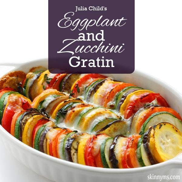 Julia Child's Eggplant and Zucchini Gratin. It's delicious!! #zucchinirecipes #eggplantrecipes