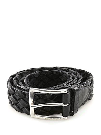 Sergio Gavazzeni - Cinture - Accessori - Cintura in pelle intrecciata, con fibbia silver, altezza 3,5 cm. - NERO - € 89.00