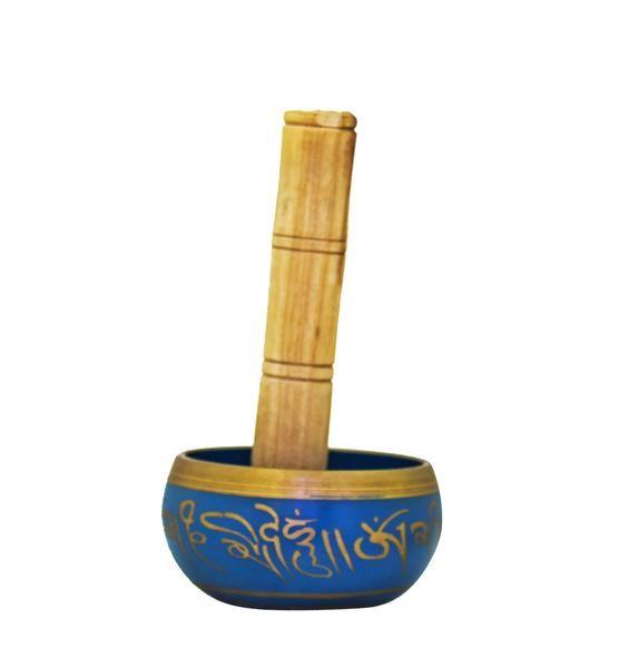 Tibetan Singing Bowl Blue  @devotionalstore