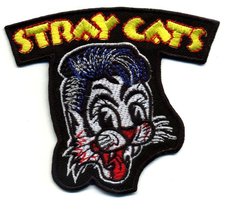Stray Cats Patch Badge Retro Rockabilly Hot Rod Iron on Greaser Jacket Black | eBay