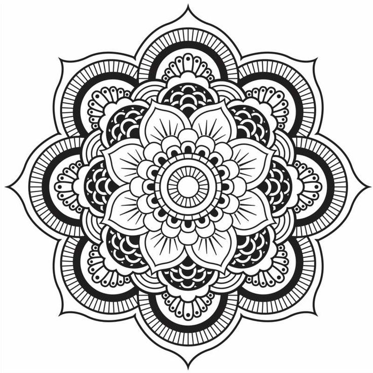 die besten 17 ideen zu blumen mandala auf pinterest mandala art mandela kunst und mandala. Black Bedroom Furniture Sets. Home Design Ideas