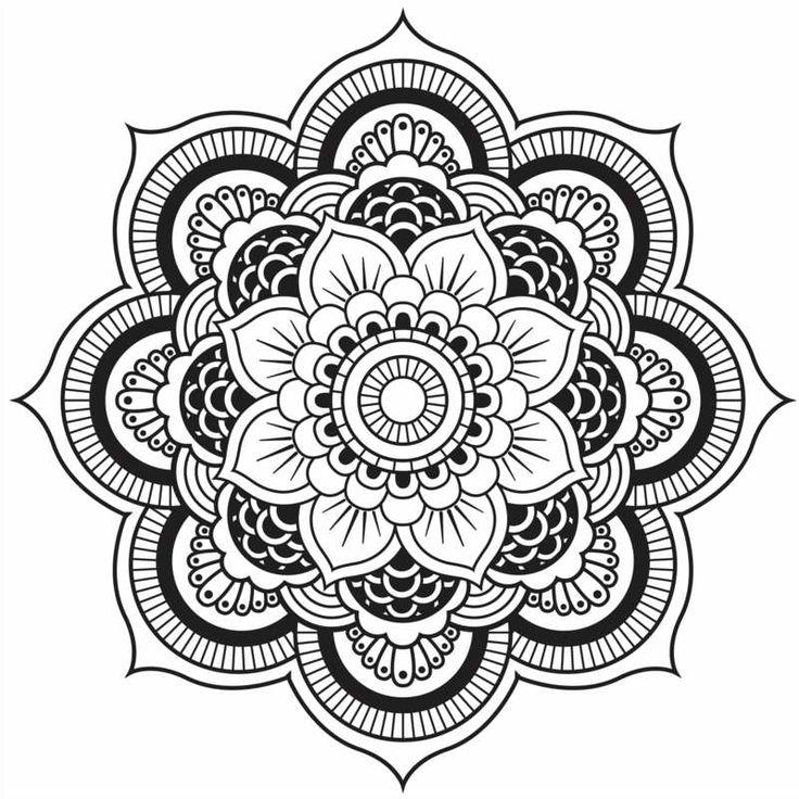 Originelle Mandala Form - Eine hübsche Blume                                                                                                                                                     Mehr